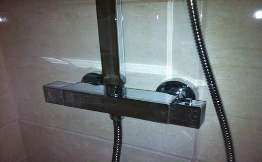 Chrome shower valve