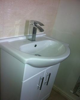 small cloakroom basin