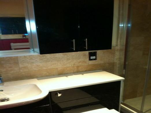 black bathroom suite
