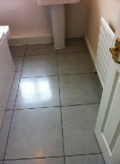Gray floor tiles from tops