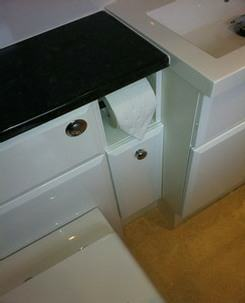 fitted toilet roll unit